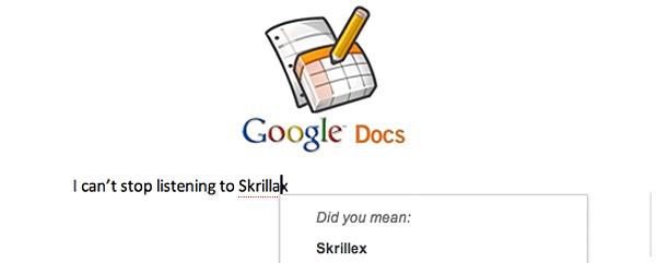 skrill مستندات جوجل تحسن في مستوى التصحيح اللغوي