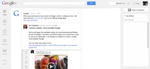 googleplus1 300x138 قوقل تطلق واجهه جديدة لقوقل+