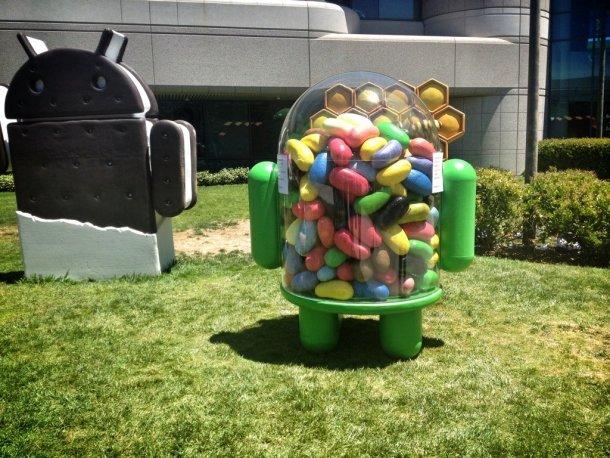 مجسم اندرويد جيلي بين في حديقة غوغل