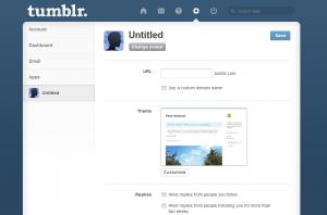 Modify your Tumblr Page
