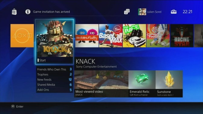PS4-Interface
