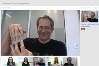 Google Hangouts receive sign language interpreter support