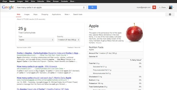 google-search-nutrition