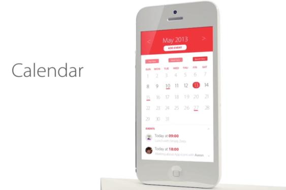 تصميم التقويم iOS 7