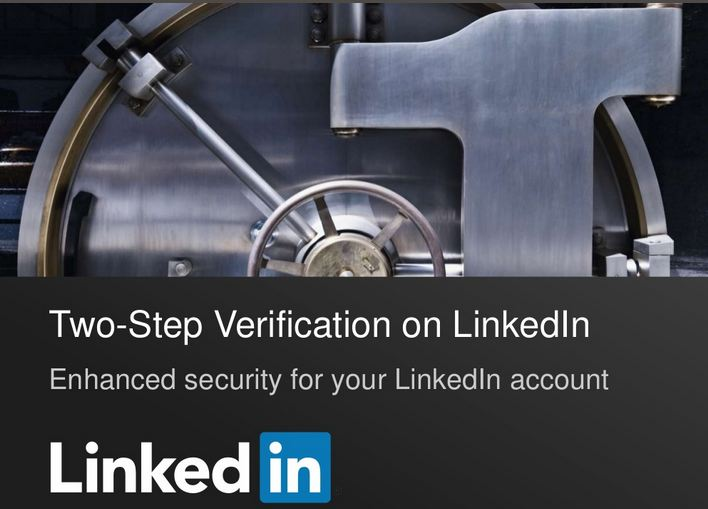 two step verification linkedin