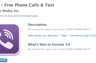Viber Apple App Store description hacked
