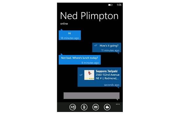whatsapp تحديث الواتساب على ويندوز فون يقدم بدء الاتصال من التطبيق
