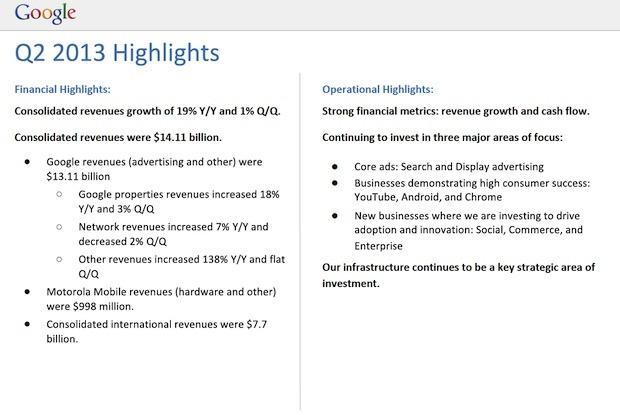 zdnet google q2 2013 earnings 1 620x415 قوقل تحقق أكثر من 14 مليار دولار عوائد ربعية