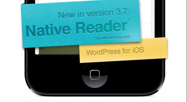 الإعلان الترويجي لوورد بريس على iOS