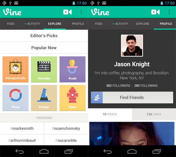 twitter-vine-android