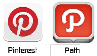 pinterest and path
