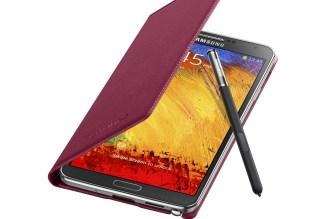 Galaxy-Note3-FlipCover_004_Open-Pen_Plum-Magenta