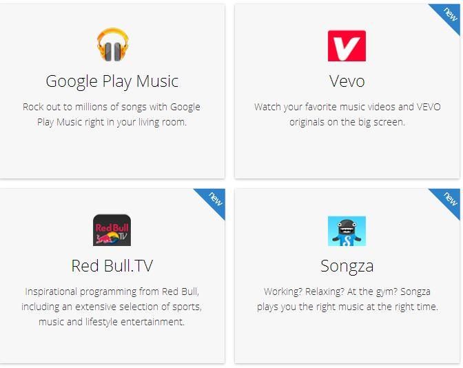 قطعة كروم كاست تدعم 10 تطبيقات جديدة - عالم التقنية