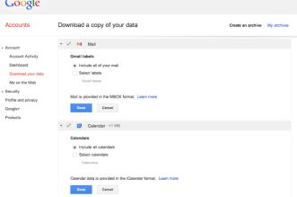 gmail takeout