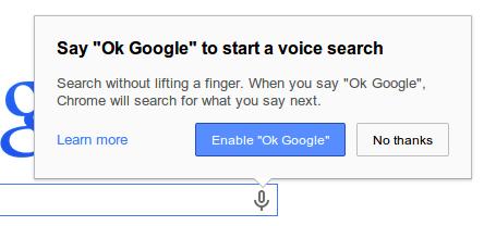 تفعيل بحث صوتي كروم