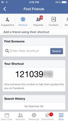 fb shortcuts