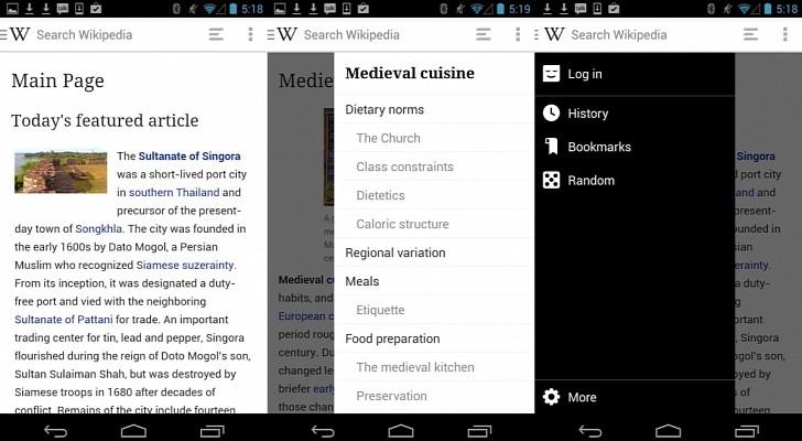 ويكيبيديا على أندرويد