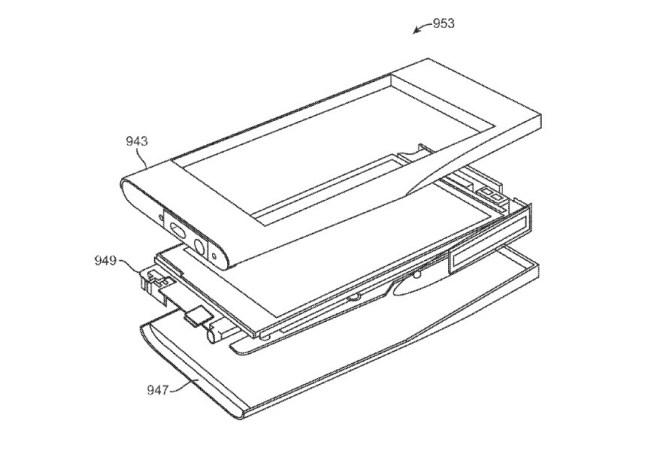 براءة اختراع هيكل هاتف فيس بوك