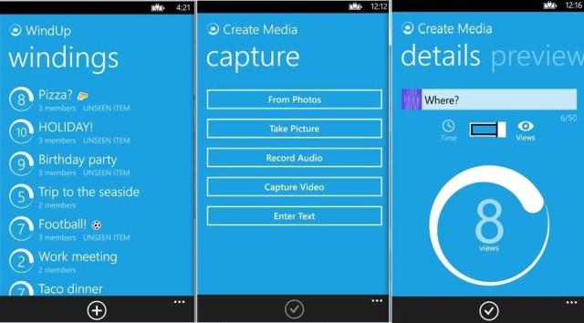 windup story WindUp منافس سناب شات من مايكروسوفت على ويندوز فون
