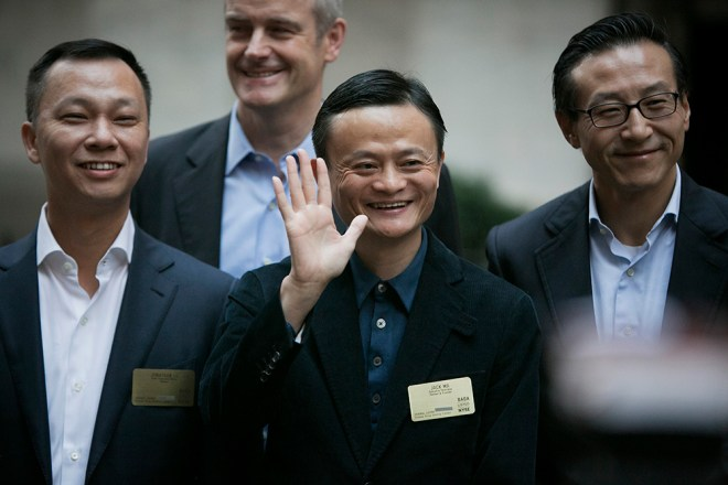 Alibaba Group Holding Ltd. Executives Attend IPO Ceremony At The NYSE