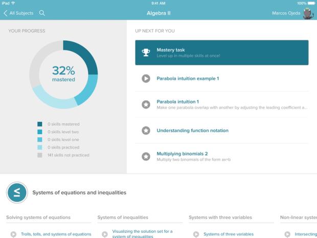 تحديث تطبيق أكاديمية خان التعليمية على الآيباد يضيف 150 ألف تمرين