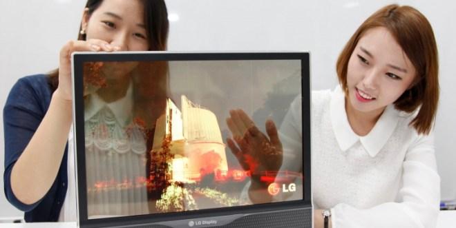 LG transparent OLED