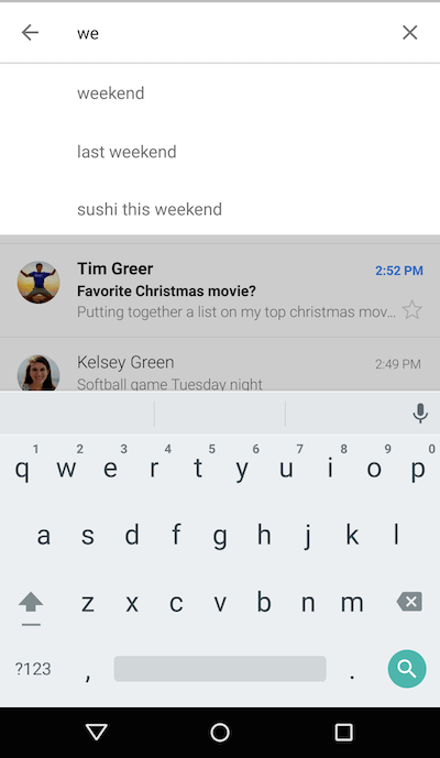 Smart Search (with new keyboard)