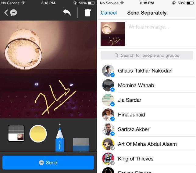تطبيق Drawl for Messenger للرسم على الصور في iOS