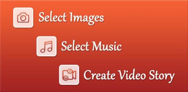 Video Maker لصنع فيديو مضاف إليه الصور والموسيقى على أندرويد