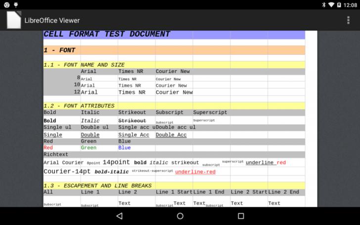 LibreOffice تطبيق عارض مستندات أوفيس على أندرويد
