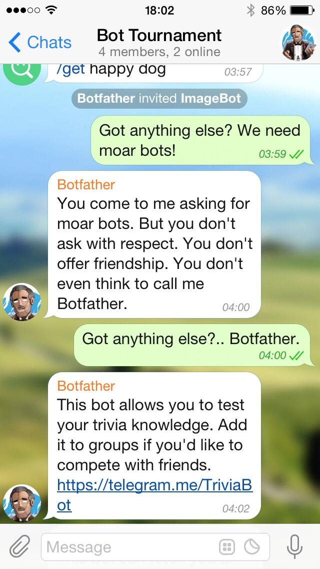 Telegram تطرح منصة جديدة تتيح للمطورين إنشاء BOTS رسالة ذكية متعددة الإستعمالات