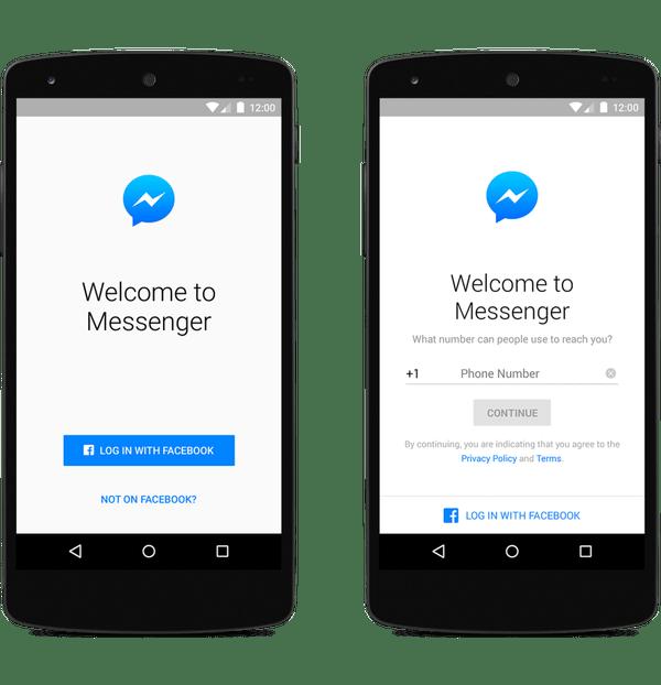 التسجيل في Facebook Messenger لم يعد يتطلب حساب فيسبوك