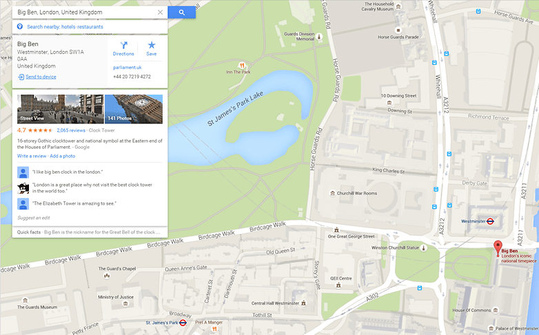 google-maps-send-to-device