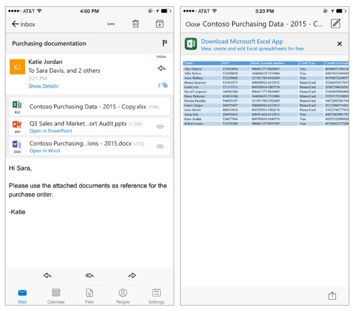 تحديث Outlook على iOS يجلب التكامل مع مستندات أوفيس