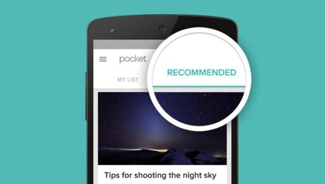 تحديث Pocket على أندرويد يجلب التوصيات في كل علامة تبويب جديدة