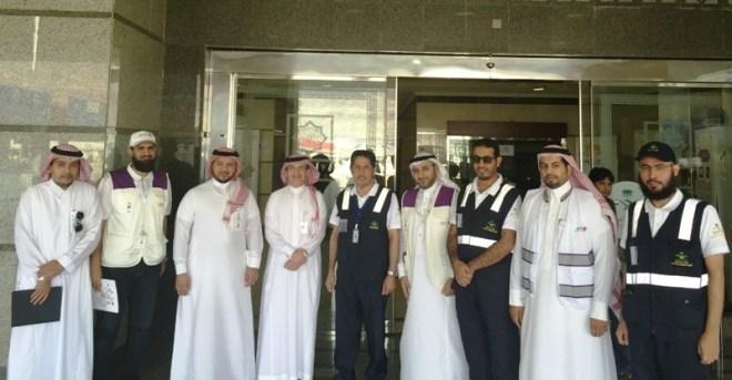 من اجتماع مسئولي وزارة الصحة والاتصالات السعودية في مقر وزارة الصحة في منى