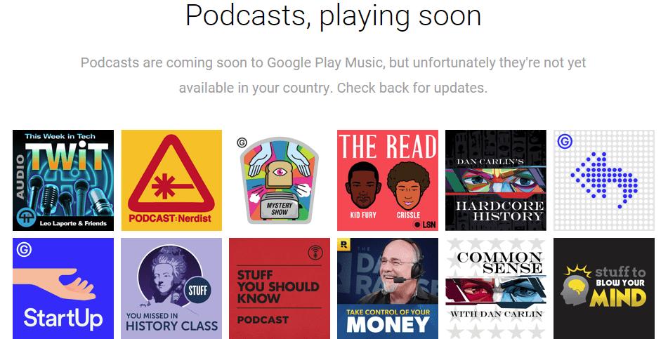 """أخيرًا قوقل تجلب البودكاست """"Podcasts"""" على تطبيق Play Music في أندرويد"""