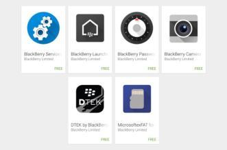 تطبيقات هاتف بلاك بيري PRIV المنتظر تُرفع على متجر قوقل بلاي