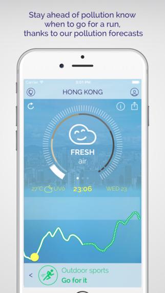 تطبيق Plume لجدولة أنشطتك الخاصة حسب تلوث الجو
