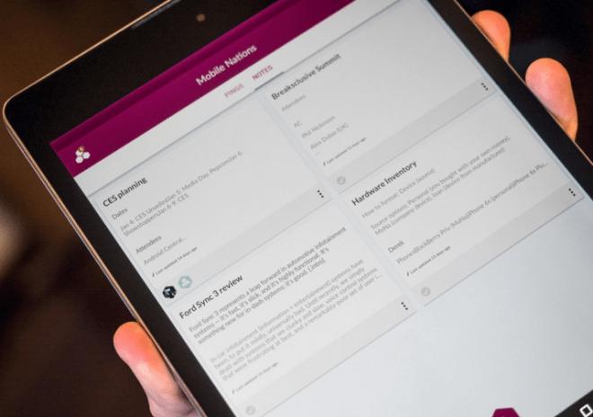 Pingpad على أندرويد لمشاركة المهام والملاحظات والرسائل بين مجموعات العمل