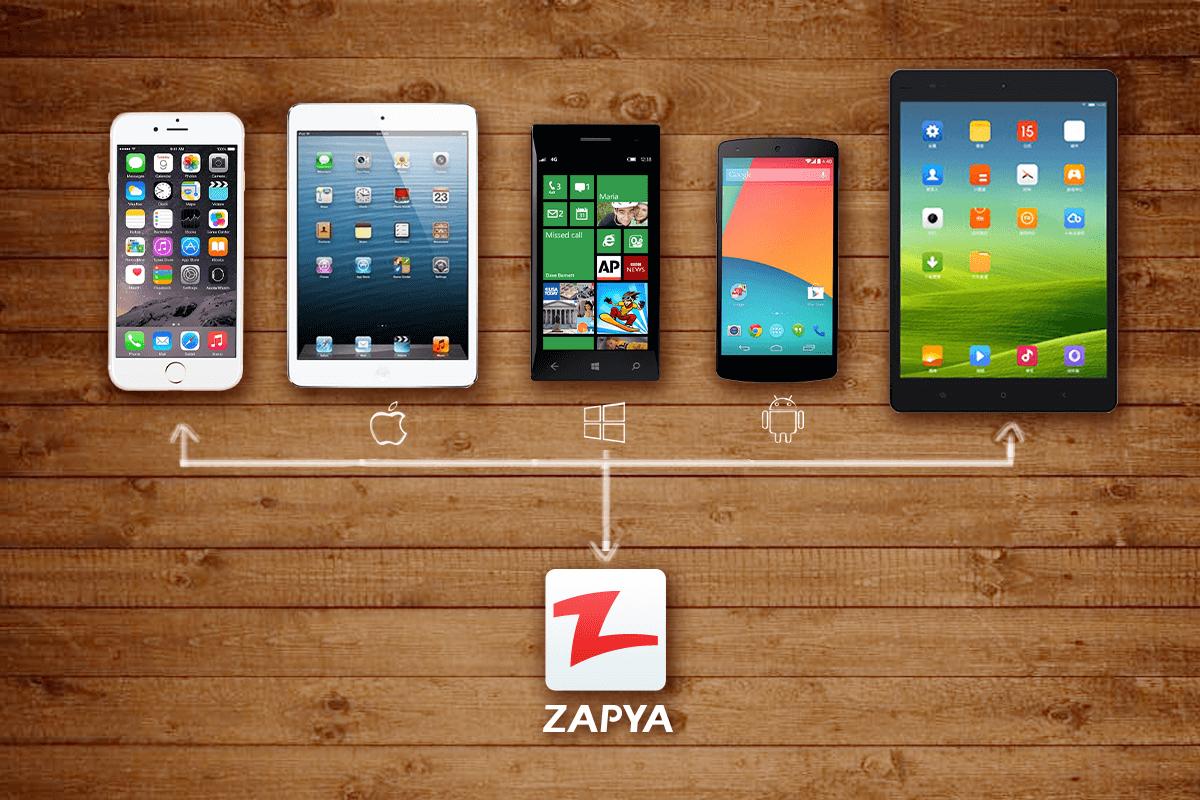 تطبيق Zapya لنقل مختلف الملفات بين الهواتف الذكية القريبة
