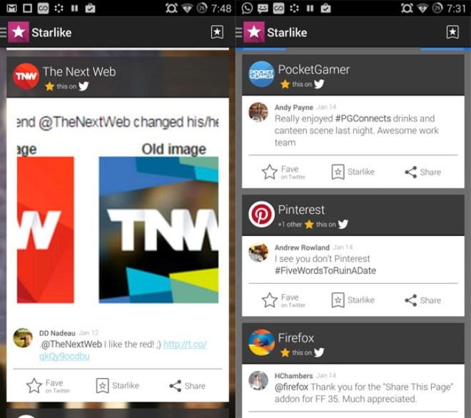 تطبيق Starlike لمتابعة مختلف مشاركات تطبيقات التواصل الإجتماعي في مكان واحد