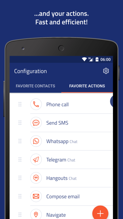 Veer contacts widget