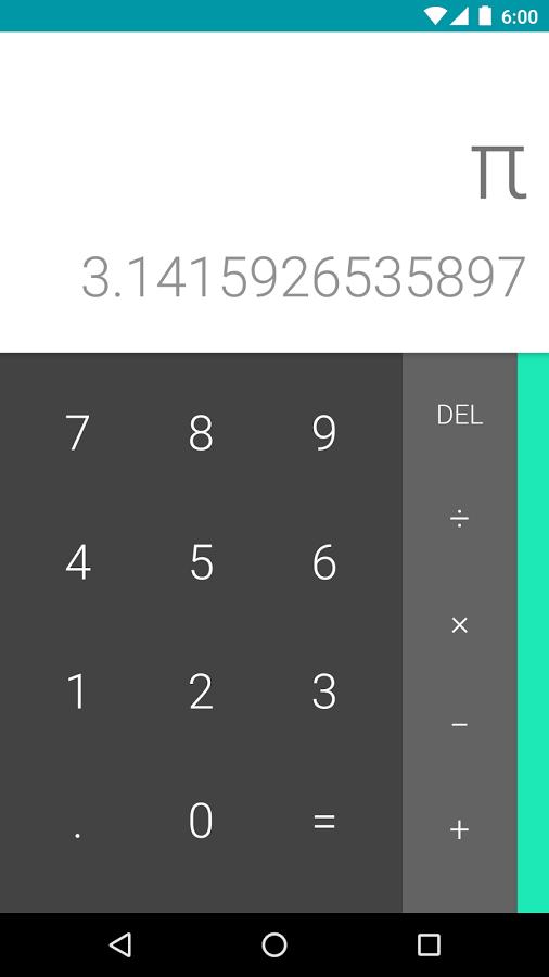 تطبيق الآلة الحاسبة من قوقل متاح على متجر بلاي مع دعمه لأندرويد وير
