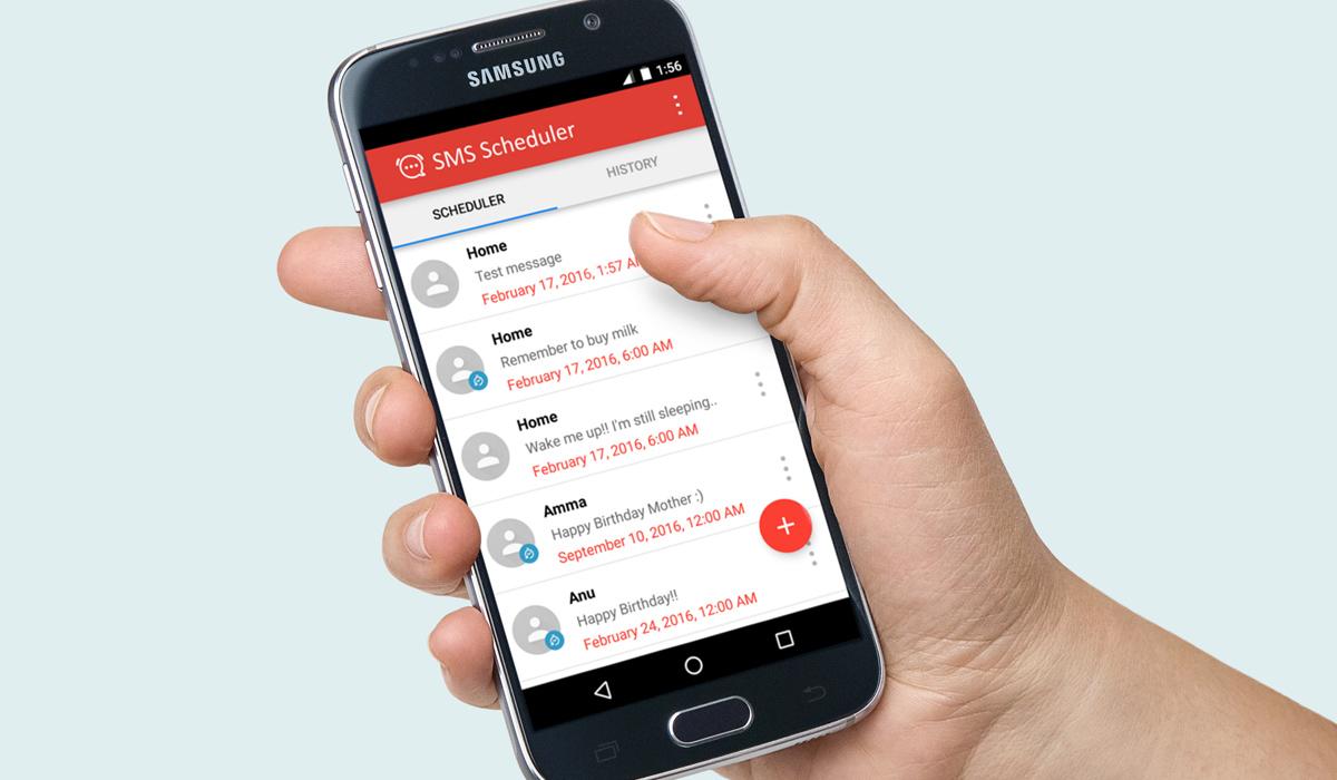 تطبيق SMS Scheduler في أندرويد لجدولة الرسائل القصيرة SMS