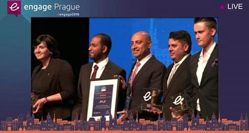 تسليم الجائزة للاتصالات السعودية في مدينة براغ التشيكية