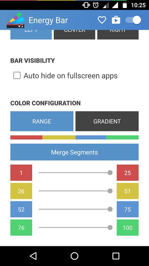 تطبيق Energy Bar للإستعلام عن نسبة البطارية بطريقة عملية