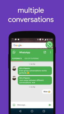 تطبيق Flychat لتصفّح تطبيقات الدردشة ضمن فقاعات عائمة