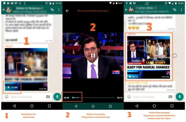 واتساب بيتا يدعم الآن تشغيل الفيديو دون إنتظار تحميله