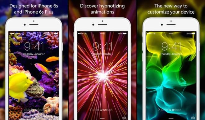 تطبيق الخلفيات الحيّة Live Wallpapers لشاشة القفل على iOS